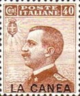 """[Italy Postage Stamps Overprinted """"LA CANEA"""", tyyppi D4]"""