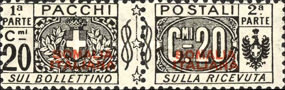 [Italian Parcel Post Stamps Overprinted, type D2]