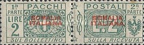 [Italian Parcel Post Stamps Overprinted, type D6]