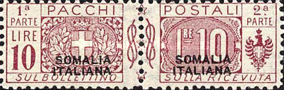 [Italian Parcel Post Stamps Overprinted in Red Or Black Colour, type E1]