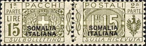 [Italian Parcel Post Stamps Overprinted in Red Or Black Colour, type E4]