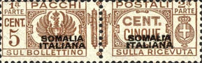 [Italian Postage Stamps Overprinted, type F]