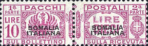 [Italian Postage Stamps Overprinted, type F10]