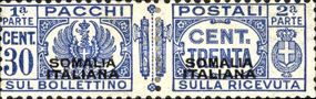 [Italian Postage Stamps Overprinted, type F3]