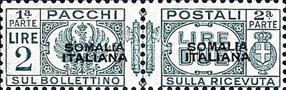 [Italian Postage Stamps Overprinted, type F7]