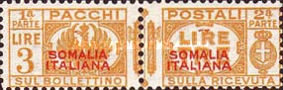 [Italian Postage Stamps Overprinted, type H1]