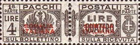 [Italian Postage Stamps Overprinted, type H2]