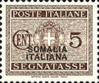[Italian Postage Due Stamps Overprinted, type F]