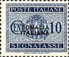[Italian Postage Due Stamps Overprinted, type F1]