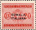 [Italian Postage Due Stamps Overprinted, type F2]