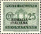 [Italian Postage Due Stamps Overprinted, type F3]