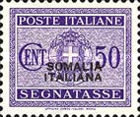[Italian Postage Due Stamps Overprinted, type F6]