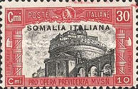 [Italian Postage Stamps Overprinted in Red or Black, type AA]