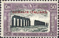 [Italian Postage Stamps Overprinted in Red or Black, type AA1]