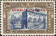 [Italian Postage Stamps Overprinted in Red or Black, type AA2]