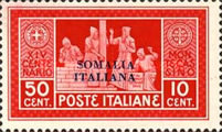 [Not Issued Italian Postage Stamps Overprinted, type AB2]