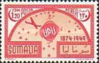 [Airmail - The 75th Anniversary of Universal Postal Union, type BT]