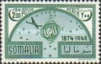 [Airmail - The 75th Anniversary of Universal Postal Union, type BT2]