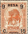 [Issue of 1906-1916 Surcharged, type G2]