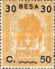 [Issue of 1906-1916 Surcharged, type G4]