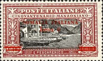 [Italian Postage Stamps Overprnted & Surcharged, type M]