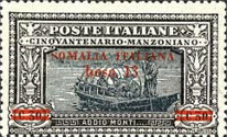 [Italian Postage Stamps Overprnted & Surcharged, type M2]
