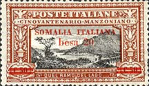 [Italian Postage Stamps Overprnted & Surcharged, type M3]