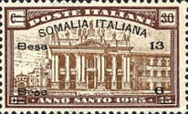 [Italian Postage Stamps Overprinted & Surcharged, type O1]