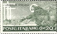 """[Italian Postage & Not Issued Stamps Overprinted """"SOMALIA ITALIANA"""" in Black or Red Colour, type R]"""