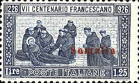 """[Italian Postage & Not Issued Stamps Overprinted """"SOMALIA ITALIANA"""" in Black or Red Colour, type R3]"""
