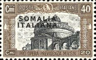 [Italian Postage & Not Issued Stamps Overprined, type V]