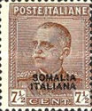 [Italian Postage Stamps Overprinted in Black or Red Colour, type Z]