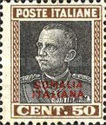[Italian Postage Stamps Overprinted in Black or Red Colour, type Z1]