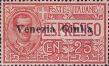 [Italian Express Stamp Overprinted