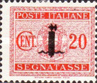 [Postage Due Stamps of 1934 Overprinted, type I2]