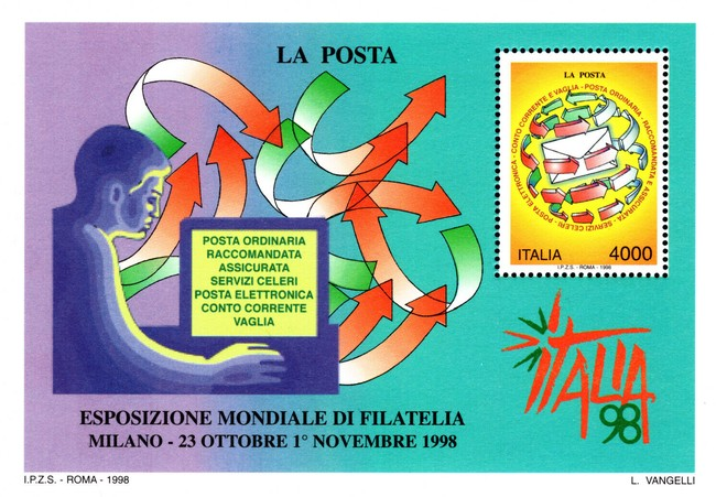 [World Stamp Exhibition, Milan - Post Office Day, type ]