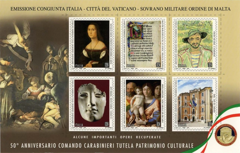 [The 50th Anniversary of the Carabinieri for the Protection of Cultural Heritage and Anti-Counterfeiting -  - Joint Issue with Vatican City, Typ ]