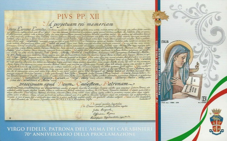 [The 70th Anniversary of Virgo Fidelis as Patron of the Carabinieri, type ]