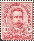 [King Umberto I - New Designs, type AA]