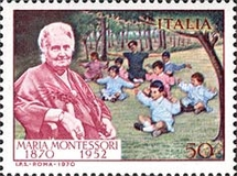 [The 100th Anniversary of the Birth of Maria Montessori, Typ AFP]