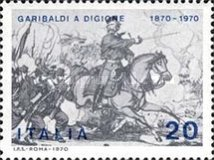 [The 100th Anniversary of Garibaldi's Participation in the Franco-Prussian War during Battle of Dijon, Typ AFS]
