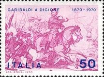 [The 100th Anniversary of Garibaldi's Participation in the Franco-Prussian War during Battle of Dijon, Typ AFS1]
