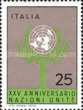 [The 25th Anniversary of the United Nations, Typ AFT]