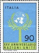 [The 25th Anniversary of the United Nations, Typ AFT1]
