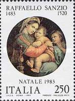 [Christmas Stamps - Raphael Paintings, type AZF]
