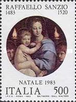 [Christmas Stamps - Raphael Paintings, type AZH]