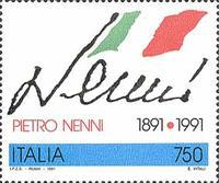 [The 100th Anniversary of the Birth of Pietro Nenni, type BMD]