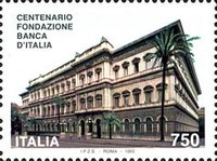 [The 100th Anniversary of the Bank of Italy, Typ BPY]