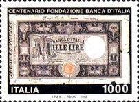 [The 100th Anniversary of the Bank of Italy, type BPZ]