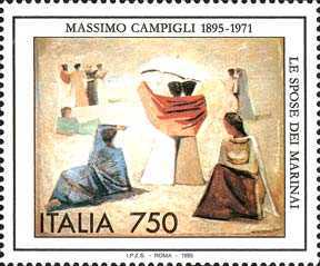 [The 100th Anniversary of the Birth of Massimo Campigli, Painter, Typ BUI]